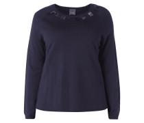 PLUS SIZE - Pullover mit Ziersteinbesatz