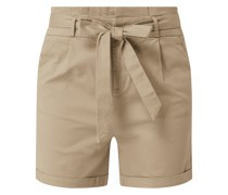Shorts mit Paperbag-Bund Modell 'Eva'