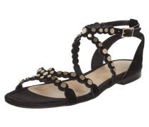 Sandalen aus Leder mit dekorativem Besatz