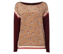 Shirt mit Kontrastvorderseite aus Seide