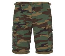 Cargobermudas mit Camouflage-Muster