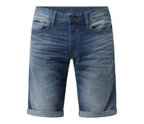 Straight Fit Jeansshorts aus Baumwolle