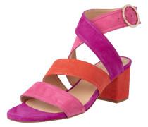 Sandalette aus Veloursleder mit Blockabsatz