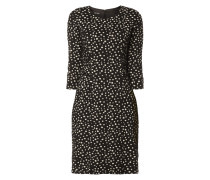 Kleid mit strukturiertem Punktemuster