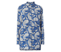 Longbluse mit floralem Muster