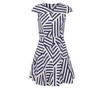Kleid mit grafischem Muster und Kappärmeln