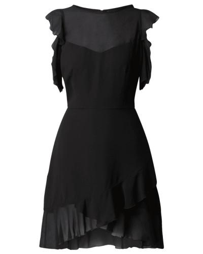 Cold Shoulder Kleid mit Rüschen