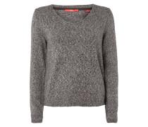 Pullover mit V-Ausschnitt - meliert