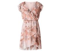 Kleid aus Chiffon in Wickel-Optik