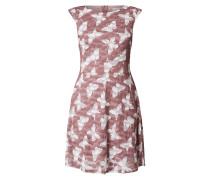 Kleid aus Chiffon mit Stickereien