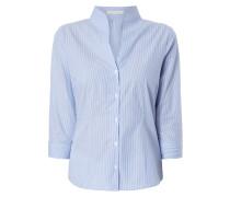 Bluse mit Kelchkragen - gestreift