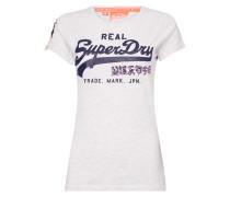 T-Shirt mit Logo-Print und Pailletten