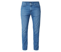 Line 8 Slim Taper Stretch Jeans Ot Blue Scrape L8