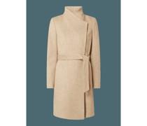Mantel aus Twill mit Woll-Anteil