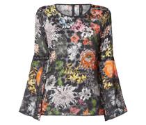 Blusenshirt aus Organza mit floralem Muster