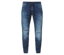 Stone Washed Tapered Fit Sweatjeans