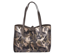 Camouflage Wende-Shopper mit  herausnehmbarer Reißverschlusstasche