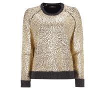 Pullover in Goldoptik