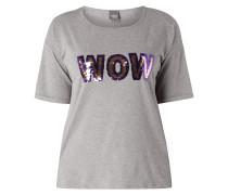 PLUS SIZE - Shirt mit Wendepailletten