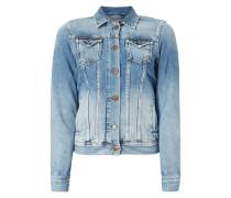 Jeansjacke mit Stickerei auf der Rückseite