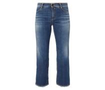Stone Washed Jeans mit leicht ausgestelltem Bein
