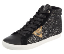 High Top Sneaker mit Glitter-Effekt