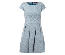 Kleid mit feinem Webmuster und Kellerfalten