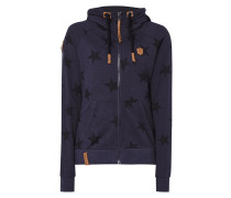 Sweatjacke 'EAGER BEAVER' mit Sternenmuster