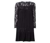 Kleid mit floralem Spitzeneinsatz