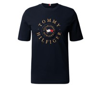 T-Shirt mit Label-Stitching