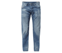 Regular-Straight Fit Stone Washed Jeans