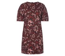 Kleid mit floralem Webmuster