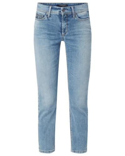 Slim Fit Jeans mit Swarovski-Kristallen