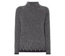 Pullover mit Stehkragen und Raglanärmeln