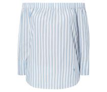 Off Shoulder Blusenshirt mit Streifenmuster