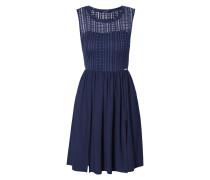 Kleid aus Spitze mit Kontrastbesatz