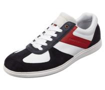 Sneaker aus Veloursleder mit Kontrastdetails