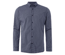 Fitted Freizeithemd mit Button-Down-Kragen