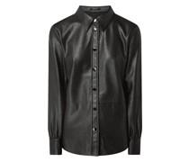 Bluse in Leder-Optik Modell 'Feda'