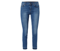 Stone Washed Ankle Cut Jeans