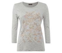 T-Shirt mit grafischem Muster aus Nieten