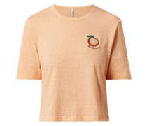 Cropped T-Shirt aus Bio-Baumwolle Modell 'Fruity'