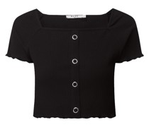 Cropped Shirt mit Stretch-Anteil