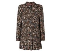 Mantel mit floralem Muster aus Effektgarn