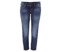 Regular Fit 5-Pocket-Jeans mit verkürzter Länge