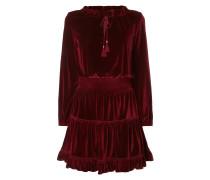 Kleid aus Samt mit Rüschen