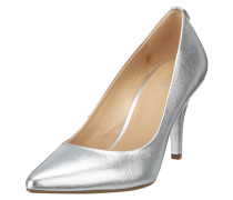 Pumps aus Saffianoleder in Metallicoptik