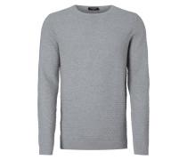 Pullover mit Wabenstruktur und Woll-Anteil