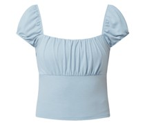PAMELA x NA-KD REBORN Cropped Shirt mit Karree-Ausschnitt
