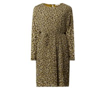Kleid aus Chiffon mit Millefleurs